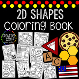 2D Shapes Coloring Book {Made by Creative Clips Clipart}