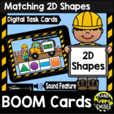 2D Shapes: Construction Theme BOOM Cards
