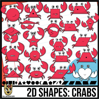 2D Shapes: Crab Clipart