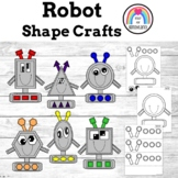 Robot Shapes Craft Pack: Circle, Oval, Square, Rectangle, Hexagon, Triangle