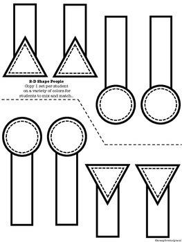 2D Shapes Craft: Shape People