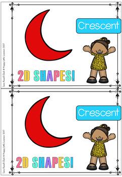 2D Shapes Crescent Emergent Reader