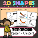 2D Shapes Crescent Emergent Reader