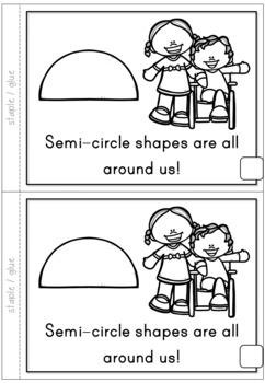 2D Shapes Semi-circle Emergent Reader