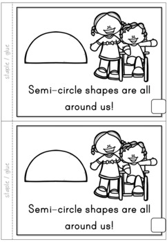 2D Shapes Semi-circle Emergent Reader