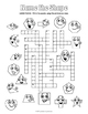 2D Shapes Crossword Puzzle