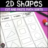 2D Shapes Cut and Paste Sorts