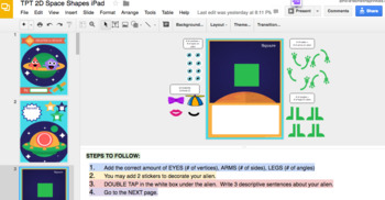 2D Shapes DIGITAL INTERACTIVE lesson using Google Slides w/ GOOGLE DRIVE
