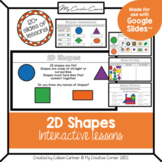 2D Shapes Digital Math Interactive Slides Kindergarten or Grade 1