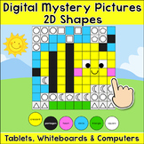 2D Shapes Digital Mystery Pictures - Spring Math Activity