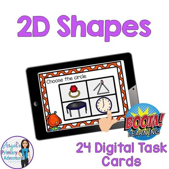 2D Shapes Digital Task Cards BOOM CARDS