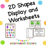 2D Shapes Display Pack and Worksheets