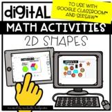 Digital Activities Math 2D Shapes Plane for Google Classroom™ & Seesaw™