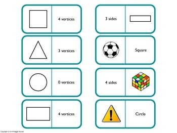 2D Shapes Dominoes