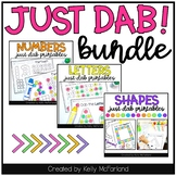 Dot Pages - Just Dab Letters, Numbers, and Shapes Bundle