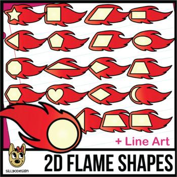 2D Shapes: Dragon Flames