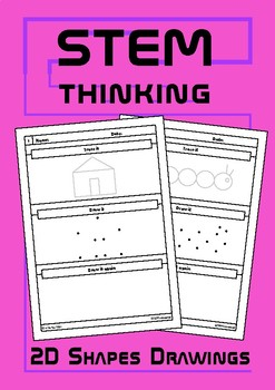 Drawing With 2D Shapes Worksheets, Art, STEAM