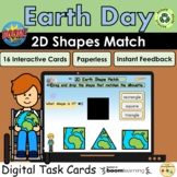 2D Shapes Earth Day Match Silhouettes Visual Perception Bo