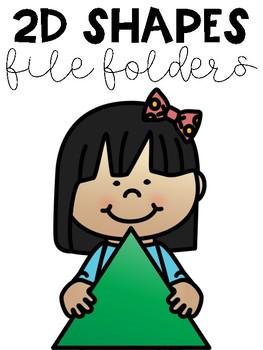 2D Shapes File Folder Tasks