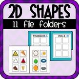 2D Shapes File Folders (Special Education)