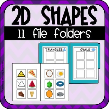 2D Shapes File Folders (Special Education)