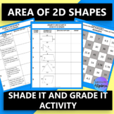 2D Shapes Finding Areas and Missing Lengths Find the Pattern Activity