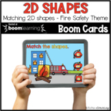 2D Shapes Fire Safety BOOM CARDS™ | Digital NO-PREP | Dist
