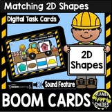 2D Shapes First Grade Construction Theme BOOM Cards
