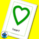 ESL Shapes Flash Cards. Heart, Circle, Diamond, Square, Heptagon, Pentagon...