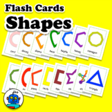 Shapes Flash Cards - 2D Maths Outlines - Shape Numeracy Vocabulary Word Wall