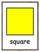 2D Shapes - Flash Cards without cartoon face (English Version / Letter Size)