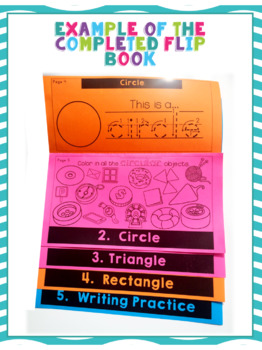 2D Shapes Flip Book | Flipbook | Math | Common Core | No Fuss | No Prep