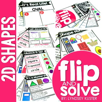 2D Shapes - Flip and Solve Books