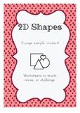2D Shapes - Free Sample