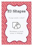 2D Shapes - Free Sample