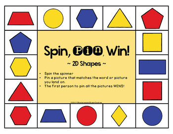 2D Shapes Game ~ Spin, Pin, Win!
