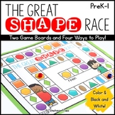 2D Shapes Game: The Great Shape Race