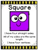 2D Shapes Game and Anchor Charts - 40 Task Cards!