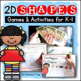 2D Shapes Games and Activities for Kindergarten and First Grade Bundle