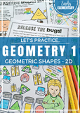 2D Shapes - Geometry Practice Pages