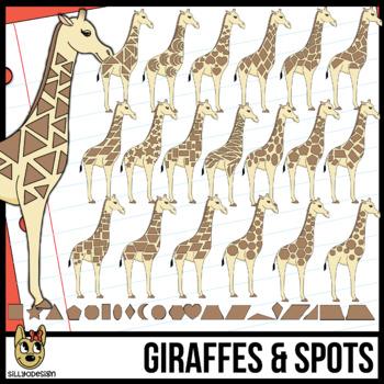 2D Shapes: Giraffe and 2D Spots Clipart
