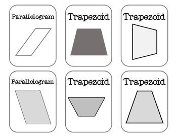 2D Shapes Go Fish!- Plane Shapes Geometry Math Center