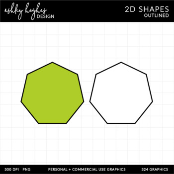 2D Shapes Clipart {A Hughes Design}