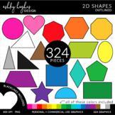 2D Shapes Clipart {A Hughes Design}