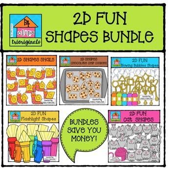2D FUN Shapes BUNDLE #4 {P4 Clips Trioriginals Digital Clipart}