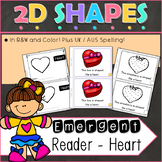 2D Shapes Heart Emergent Reader