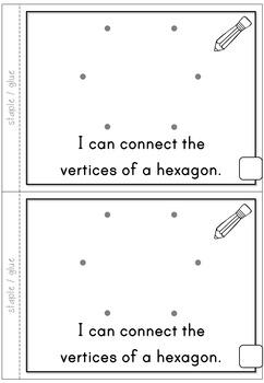 2D Shapes Hexagon Emergent Reader