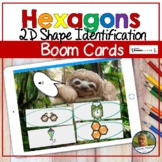2D Shapes Hexagons Digital Game   Boom Cards   Distance Learning