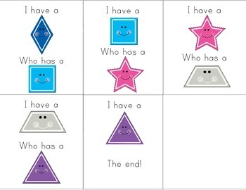 2D Shapes I Have, Who Has Game