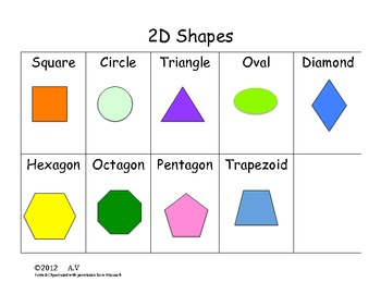 2D Shapes  I Have Who Has Game